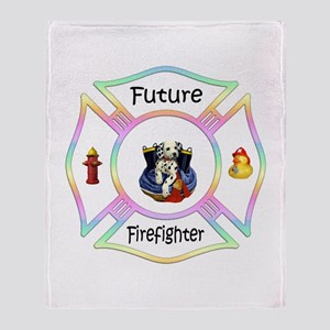 Future Firefighter Pastel Throw Blanket