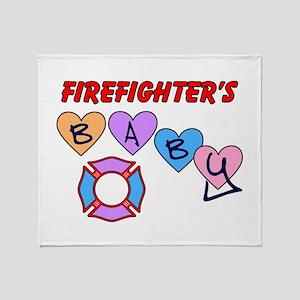 Firefighter's Baby Throw Blanket