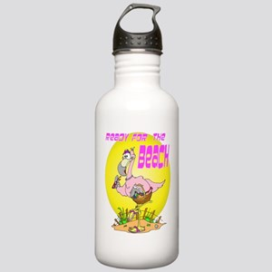 Ready for the BEACH Flamingo Stainless Water Bottl