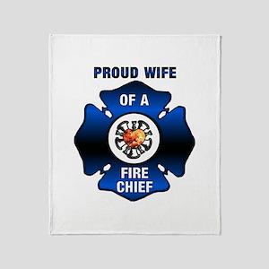 Fire Chiefs Wife Throw Blanket