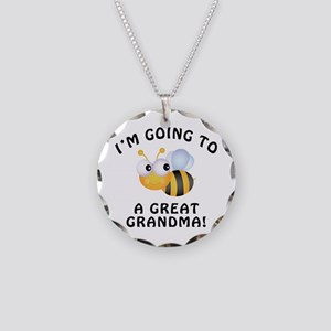 Going To Bee A Great Grandma Necklace Circle Charm
