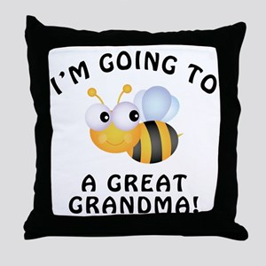 Going To Bee A Great Grandma Throw Pillow