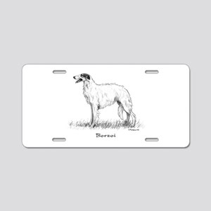 Borzoi Aluminum License Plate