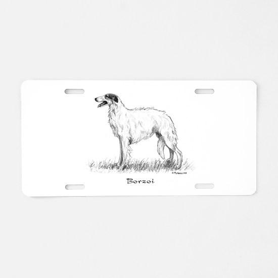 Borzoi Aluminum License Plate