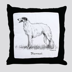 Borzoi Throw Pillow