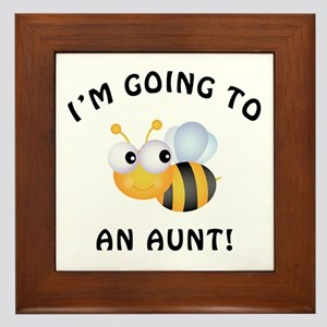 Going To Bee An Aunt Framed Tile