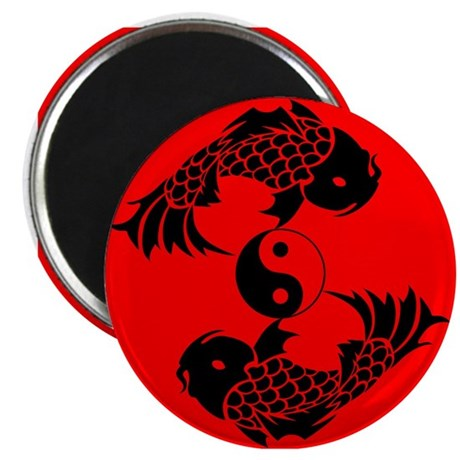 Yin Yang Koi Magnet