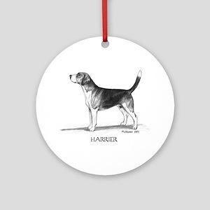 Harrier Ornament (Round)