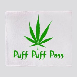 Puff Puff Pass - Leafy Throw Blanket