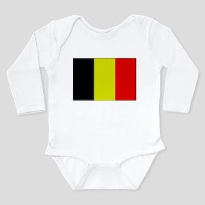 Flag of Belgium 1 Long Sleeve Infant Bodysuit