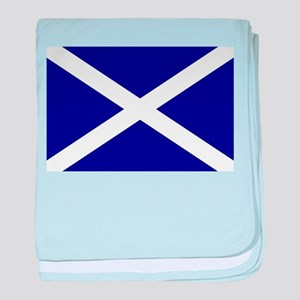 Scottish Flag St. Andrew 1 baby blanket