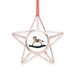 Childrens toy rocking horse design Copper Star Orn