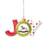 Childrens toy rocking horse design Joy Ornament