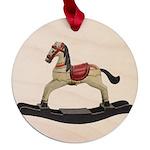 Childrens toy rocking horse design Maple Round Orn