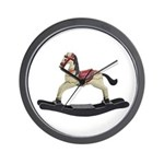 Childrens toy rocking horse design Wall Clock