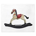 Childrens toy rocking horse design King Duvet