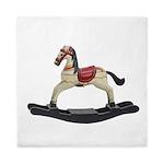 Childrens toy rocking horse design Queen Duvet