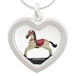Childrens toy rocking horse design Necklaces