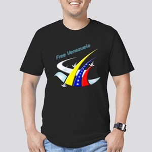 Venezuela Free Men's Fitted T-Shirt (dark)