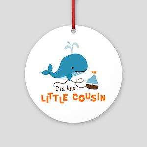 Little Cousin - Mod Whale Ornament (Round)