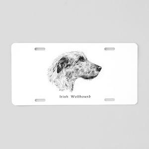 Irish Wolfhound Aluminum License Plate