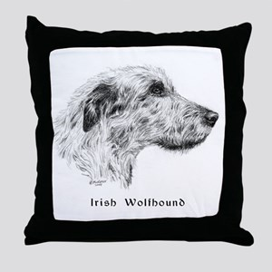 Irish Wolfhound Throw Pillow
