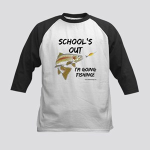 School's Out Trout Kids' Baseball Jersey