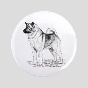 """Norwegian Elkhound 3.5"""" Button"""