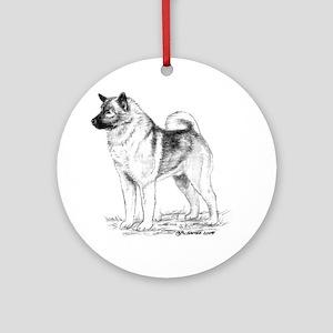 Norwegian Elkhound Ornament (Round)