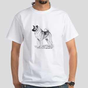 Norwegian Elkhound White T-Shirt