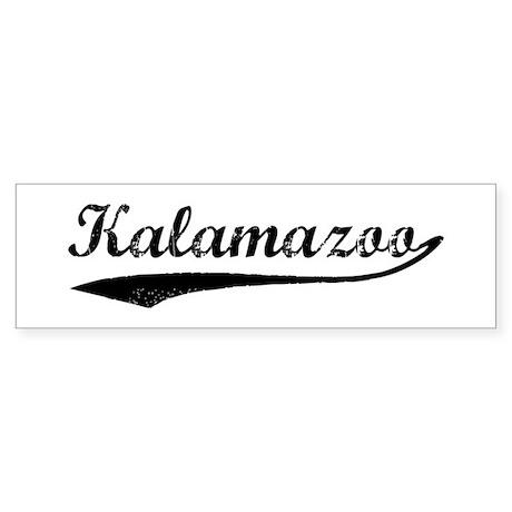 Vintage Kalamazoo Bumper Bumper Sticker by whereables