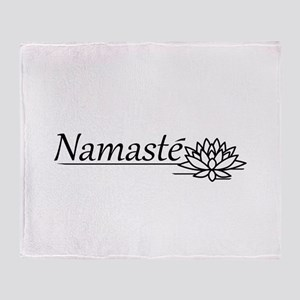 Namaste Lotus Throw Blanket