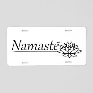 Namaste Lotus Aluminum License Plate
