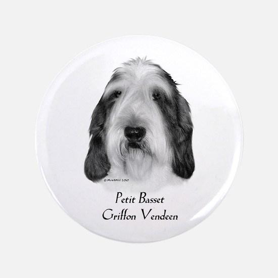 """Petit Basset Griffon Vendeen 3.5"""" Button"""
