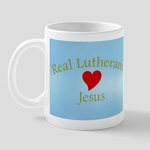 Real Lutherans Love Jesus Mug