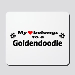 My Heart Goldendoodle Mousepad