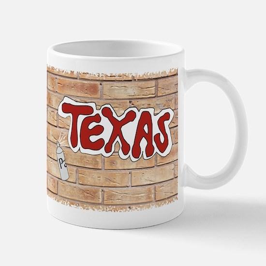 Texas On Brick Wall Mug