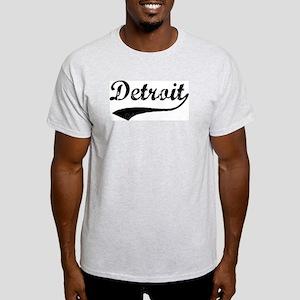 Vintage Detroit Ash Grey T-Shirt