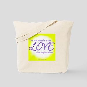 ACIM-Real Miracle is Love Tote Bag