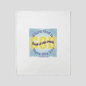 ACIM-Where God Is Throw Blanket