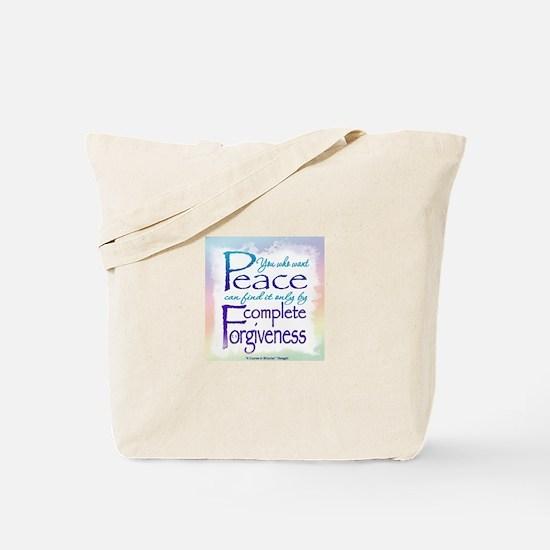 ACIM-You Who Want Peace Tote Bag