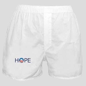 Hope Blue Text Boxer Shorts