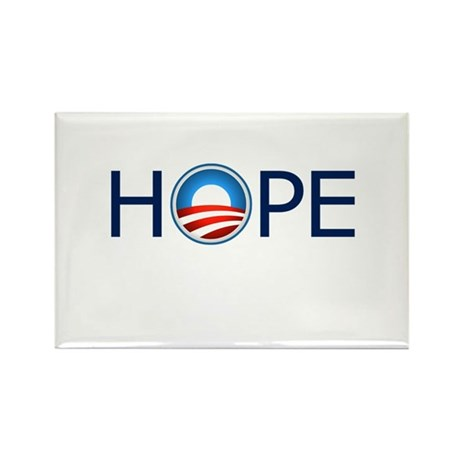 Hope Blue Text Rectangle Magnet (100 pack)