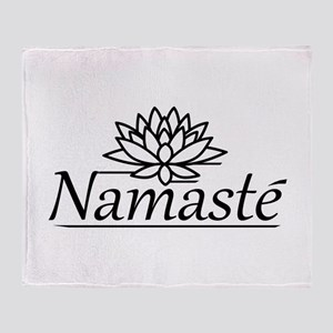Lotus Namaste Throw Blanket