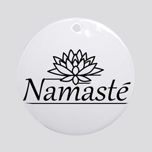 Lotus Namaste Ornament (Round)
