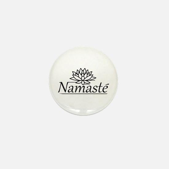 """Lotus Namaste 1"""" Mini Button"""