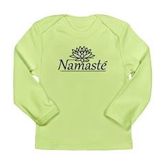 Lotus Namaste Long Sleeve Infant T-Shirt