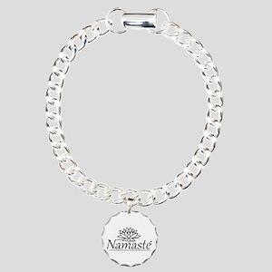 Lotus Namaste Charm Bracelet, One Charm