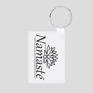Lotus Namaste Aluminum Photo Keychain