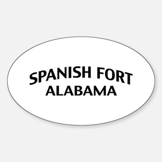 Spanish Fort Alabama Sticker (Oval)